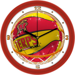 Maryland Terrapins Slam Dunk Wall Clock