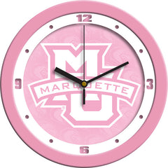 Marquette Golden Eagles Pink Wall Clock