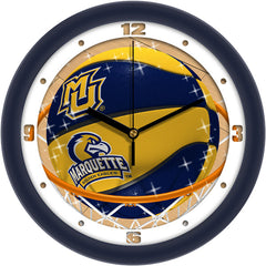 Marquette Golden Eagles Slam Dunk Wall Clock