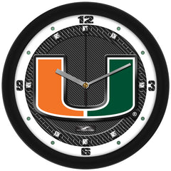 Miami Hurricanes Carbon Fiber Wall Clock