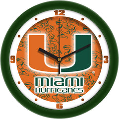 Miami Hurricanes Dimension Wall Clock