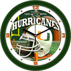 Miami Hurricanes Football Helmet Wall Clock