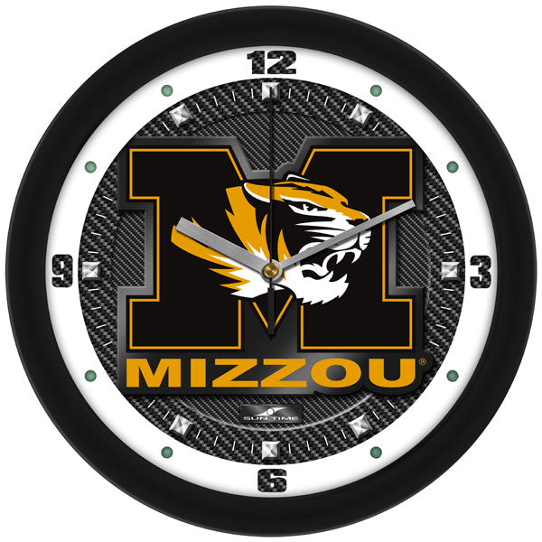 Missouri Tigers Carbon Fiber Wall Clock