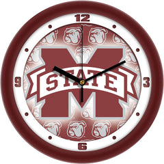 Mississippi State Bulldogs Dimension Wall Clock
