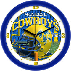 McNeese State Cowboys Football Helmet Wall Clock