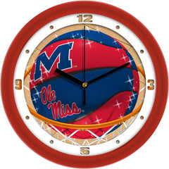 Mississippi Rebels Slam Dunk Wall Clock