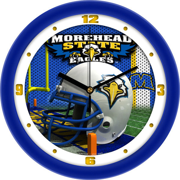 Morehead State Eagles Football Helmet Wall Clock