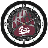 Montana Grizzlies Carbon Fiber Wall Clock