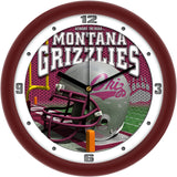 Montana Grizzlies Football Helmet Wall Clock