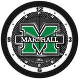 Marshall Thundering Herd Carbon Fiber Wall Clock