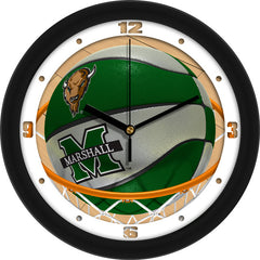Marshall Thundering Herd Slam Dunk Wall Clock