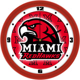 Miami Redhawks Dimension Wall Clock