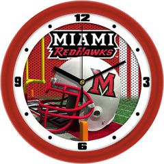 Miami Redhawks Football Helmet Wall Clock