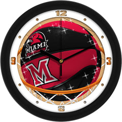 Miami Redhawks Slam Dunk Wall Clock