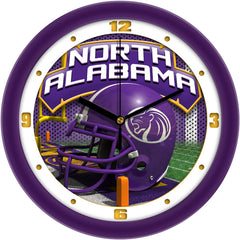 North Alabama Lions Football Helmet Wall Clock
