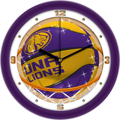 North Alabama Lions Slam Dunk Wall Clock