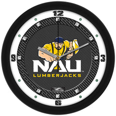 Northern Arizona Lumberjacks Carbon Fiber Wall Clock