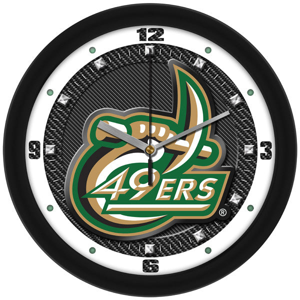 North Carolina Charlotte 49ers Carbon Fiber Wall Clock