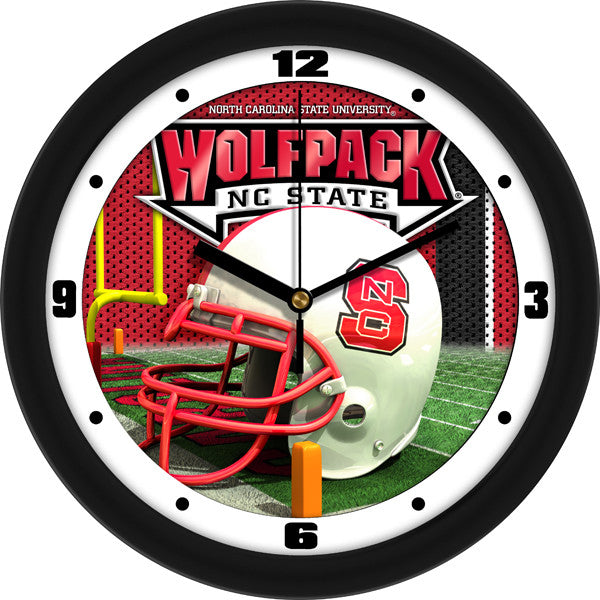 North Carolina State Wolfpack Football Helmet Wall Clock