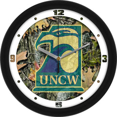 North Carolina Wilmington Seahawks Camo Wall Clock