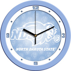 North Dakota State Bison Blue Wall Clock