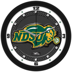 North Dakota State Bison Carbon Fiber Wall Clock