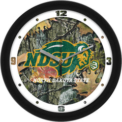 North Dakota State Bison Camo Wall Clock
