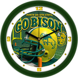 North Dakota State Bison Football Helmet Wall Clock