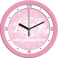 North Dakota State Bison Pink Wall Clock