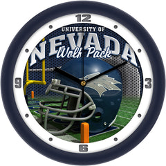 Nevada Wolfpack Football Helmet Wall Clock