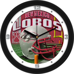 New Mexico Lobos Football Helmet Wall Clock