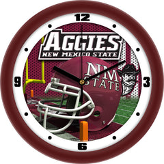New Mexico State Aggies Football Helmet Wall Clock