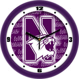 Northwestern Wildcats Dimension Wall Clock