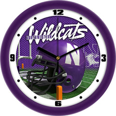 Northwestern Wildcats Football Helmet Wall Clock