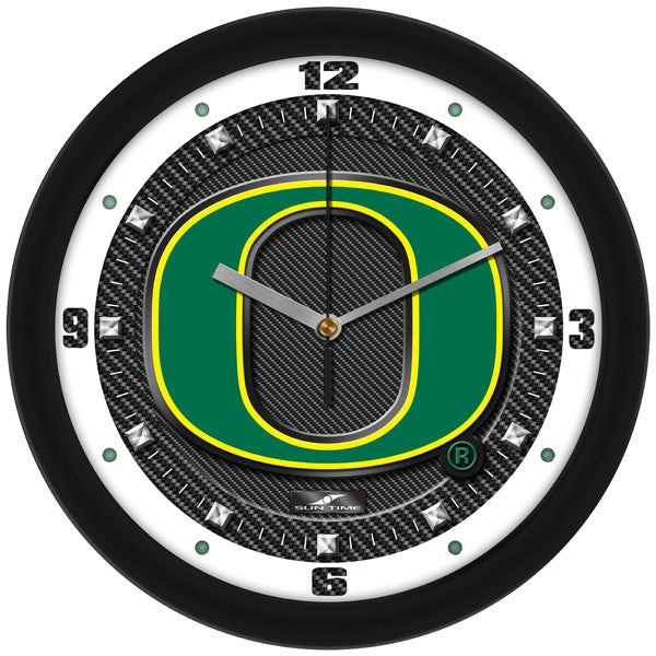 Oregon Ducks Carbon Fiber Wall Clock