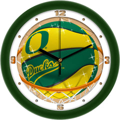 Oregon Ducks Slam Dunk Wall Clock