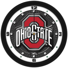 Ohio State Buckeyes Carbon Fiber Wall Clock