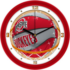 Ohio State Buckeyes Slam Dunk Wall Clock