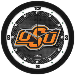 Oklahoma State Cowboys Carbon Fiber Wall Clock