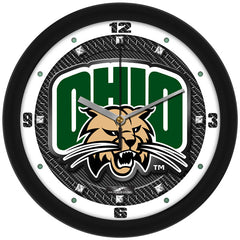 Ohio Bobcats Carbon Fiber Wall Clock