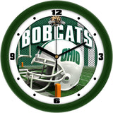 Ohio Bobcats Football Helmet Wall Clock