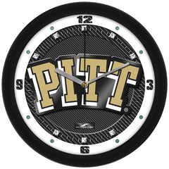 Pittsburgh Panthers Carbon Fiber Wall Clock