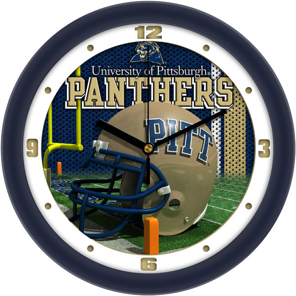 Pittsburgh Panthers Football Helmet Wall Clock