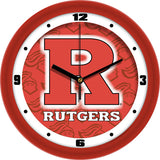 Rutgers Scarlet Knights Dimension Wall Clock