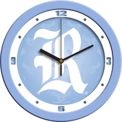 Rice Owls Blue Wall Clock
