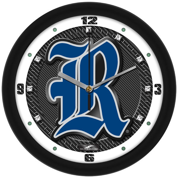 Rice Owls Carbon Fiber Wall Clock