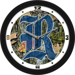 Rice Owls Camo Wall Clock