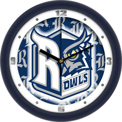 Rice Owls Dimension Wall Clock