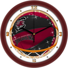 South Carolina Gamecocks Slam Dunk Wall Clock