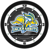 South Dakota State Jackrabbits Carbon Fiber Wall Clock